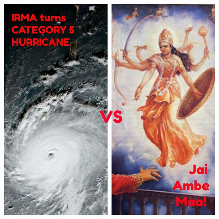 Navratri 2017 for Gujjus in Florida be like: IRMA vs Ambe Maa!  #IrmaHurricane #Irma2017 #Hurricane #IrmaHurricane2017 #Irma #usa #navratri #garba #raas #gujarati #gujarat #gujju #desi #nri #FL #florida #weather #rain #monsoon #thunderstorm #meme #maa #jaimatadi #durga #hindu #goddess #hinduism #flood #water #disaster