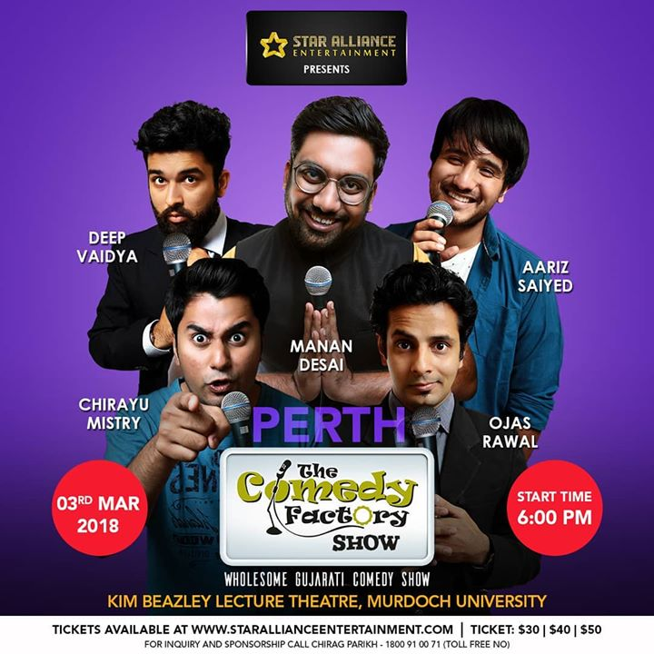Performing in Perth TONIGHT 🇦🇺 The Comedy Factory's funny men Manan Desai, Aariz Saiyed, Chirayu Mistry, Deep Vaidya and yours truly killin it after super successful shows in Brisbane, Sydney & Melbourne 😎  ・ Full family entertainment for every #Gujju!Spread the word and tag all your friends and family in Australia ! ・・ Hurry! Book your tickets at:  >>> www.starallianceentertainment.com <<<  @thecomedyfactoryindia @instafunny_manan @aarizsaiyed @nautankideep @chirayu_m @vidyajanakiraman @allinoneentertainmentandevents @usf__alumni @gujarati_world_association @gujaratiworldassociation  #Perth #show #tonight #tcf #thecomedyfactory #gujarat #australia #standupcomedy #improv #humor #comedian #jokes #funny #lol #straya #aussie #aus #tonite #standupcomedian #humor #yes #excited #awesome #bethere #usfalumni #usfworld #love #ilovemywork #lovemyjob