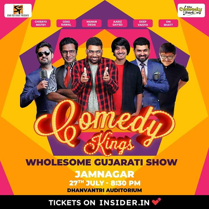 Invading JAMNAGAR Tomorrow 😃 Grab your tickets now! @starfox_events brings @thecomedyfactoryindia to the land of H. H. Jam Sahib! Tag your Jamnagari friends and family for a hilarious evening of standup, musical and improv comedy 🤘 . #jamnagar #gujarat #show #comedy #standup #improv #comedians #OjasRawal #thecomedyfactory #tomorrow #poster #event #fun #bethere #seeyouthere #standupcomedy #gujju #gujarati #funny #hilarious #comedian #tcf #ojas #jamnagardiaries #jamnagari
