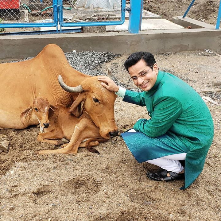 Ojas Rawal,  iloveanimals, cows, moo, OjasRawal, animallove, ojas, actor, nature, animals, animallovers, pets, pet, india, gujarat, ankleshwar, cattle, livestock, cow, calf, rural, instacow, animalkingdom, animalplanet, animalfriends, ilovecows, cowappreciationday, cowsofinstagram, pettingzoo, cowstagram, cute