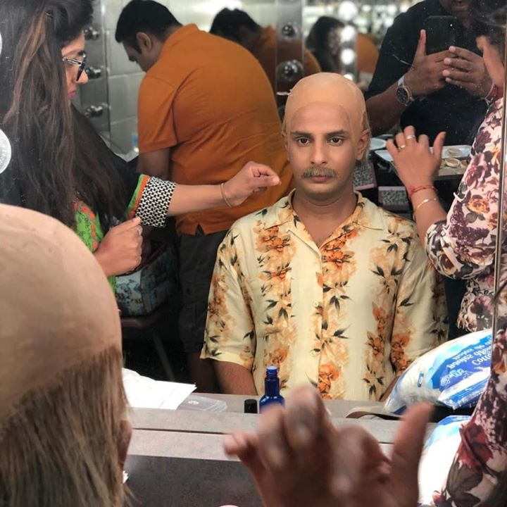 Ojas Rawal,  Toronto, Canada, MahatmaGandhi, OjasRawal, actor, theatre, makeup, greenroom, gandhi, bapu, india, gujarati, gandhiji, peace, freedom, actorlife, ojas, theater, performance, theaterlife, stage, lovethis, change, character, acting, artist, greenroomdiaries, backstage, makeover, transformation