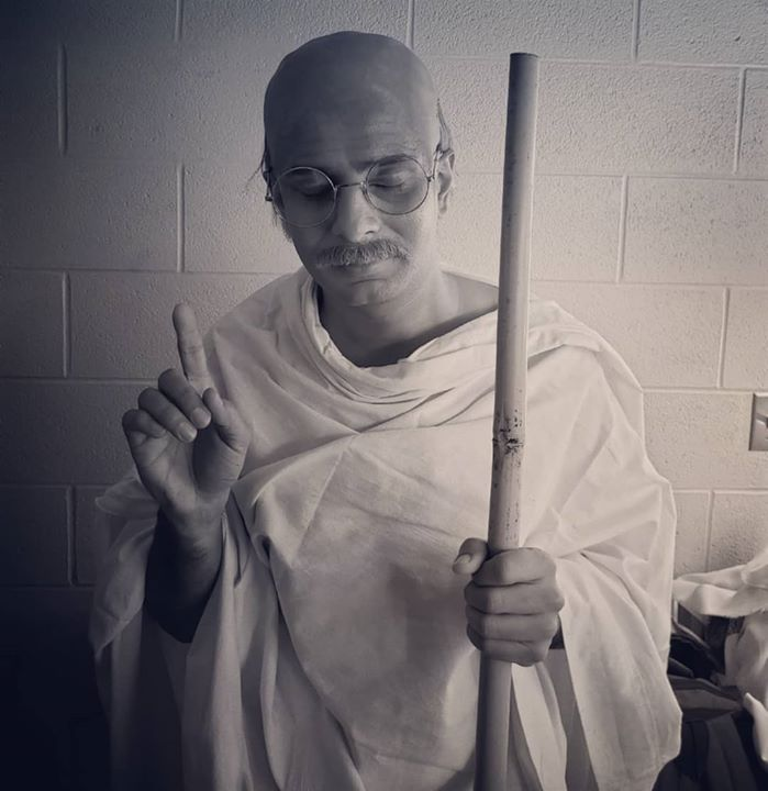 A dream role checked off the list ✅ Essayed the title role of Mahatma Gandhi 👴in the multimedia play