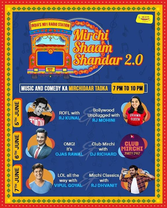 Achievement Unlocked 🤩 Sharing air space on Radio Mirchi 🌶 with this DYNAMITE roster of talent! Mirchi Kunal Vipul Goyal Vipul Goyal Mirchi RJ Mohini Dhvanit Thaker Mirchi RJ Dhvanit Radio Mirchi Mirchi Gujarati 📻 Tune in at 7pm! . #RadioMirchi #ShaamShandar #MirchiGujarati #MirchiShaamShandar #QuarantineKaRoutine #RjKunal #VipulGoyal #RjMohini #RjDhvanit #music #comedy #evening #mirchi #itshot #radiostation #ahmedabad #vadodara #surat #rajkot #bharuch #junagadh #mehsana #jamnagar #bhavnagar #palanpur #gujju #stayhome #staysafe #entertainment #enjoy Radio Mirchi USA Radio Mirchi UAE Radio Mirchi Surat Radio Mirchi Rajkot Radio Mirchi Baroda