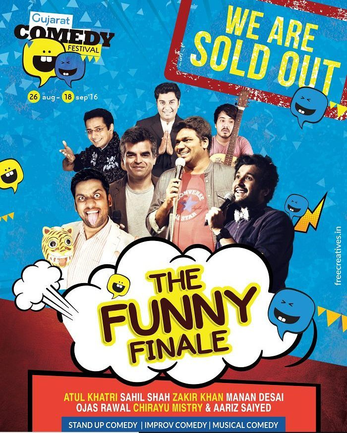 It's HOUSEFULL 🙌 Tonight's show totally Sold Out ❗❗❗ Thanks AHMEDABAD 😍 Can't wait to see ya'll tonight! This show's gonna be EPIC!  #housefull #gujarat #soldout #gujju #ahmedabad #vadodara #fullhouse #india #mumbai #comedy #standup #comiclife #nri #gujarati #improv #show #stage #excited #funny #lol #entertainment #showbiz #humour #epic #awesome #standupcomedy #hilarious #MazaakMazaakMein #desi #cantwait @instafunny_manan @chirayu_m @aarizsaiyed @zakirkhan_208 @one_by_two @sahilbulla @thecomedyfactoryindia @gujaratcomedyfestival @theideabaginc @radiocityindia