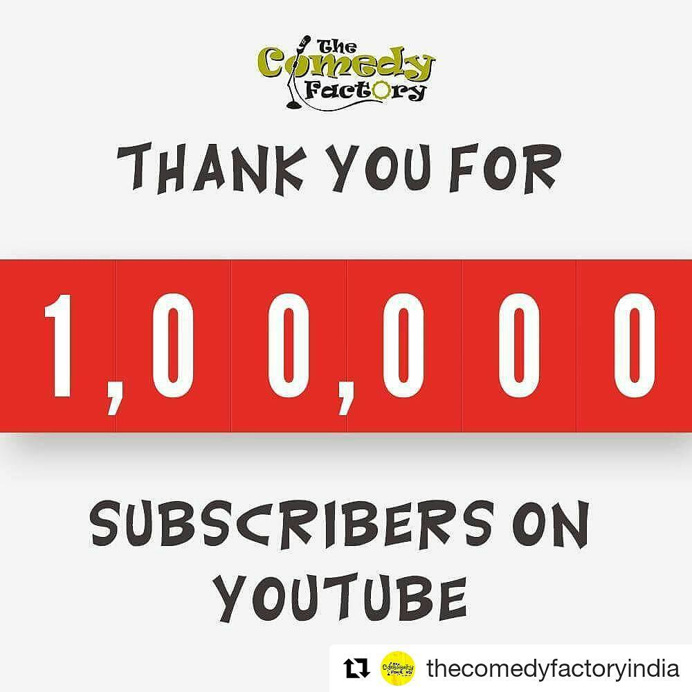 Crossed 1,00,000 subscribers on Youtube 🌋🏁 Congratulations The Comedy Factory on this feat! 😎 THANKS-A-MILLION to all those who've brought us here! Its been one long, fun, enriching journey! 🎢 And here's to the decades to come... @instafunny_manan @aarizsaiyed @chirayu_m @kuchbhimehta @nautankideep @neelakshmathur @vidyajanakiraman Preeti Das Soham Dave @youtube @youtube.india @chaalogujarat Much love ya'll 💖  #youtube #comedy #gujarati #india #youtuber #video #subscribers #comedians #achievement #feat #success #great #amazing #youtubers #gujju #tcf #ahmedabad #vadodara #surat #indianyoutuber #videos #comedian #feelinggreat #achieve #million #thankyou #fans #love #follow #thecomedyfactory