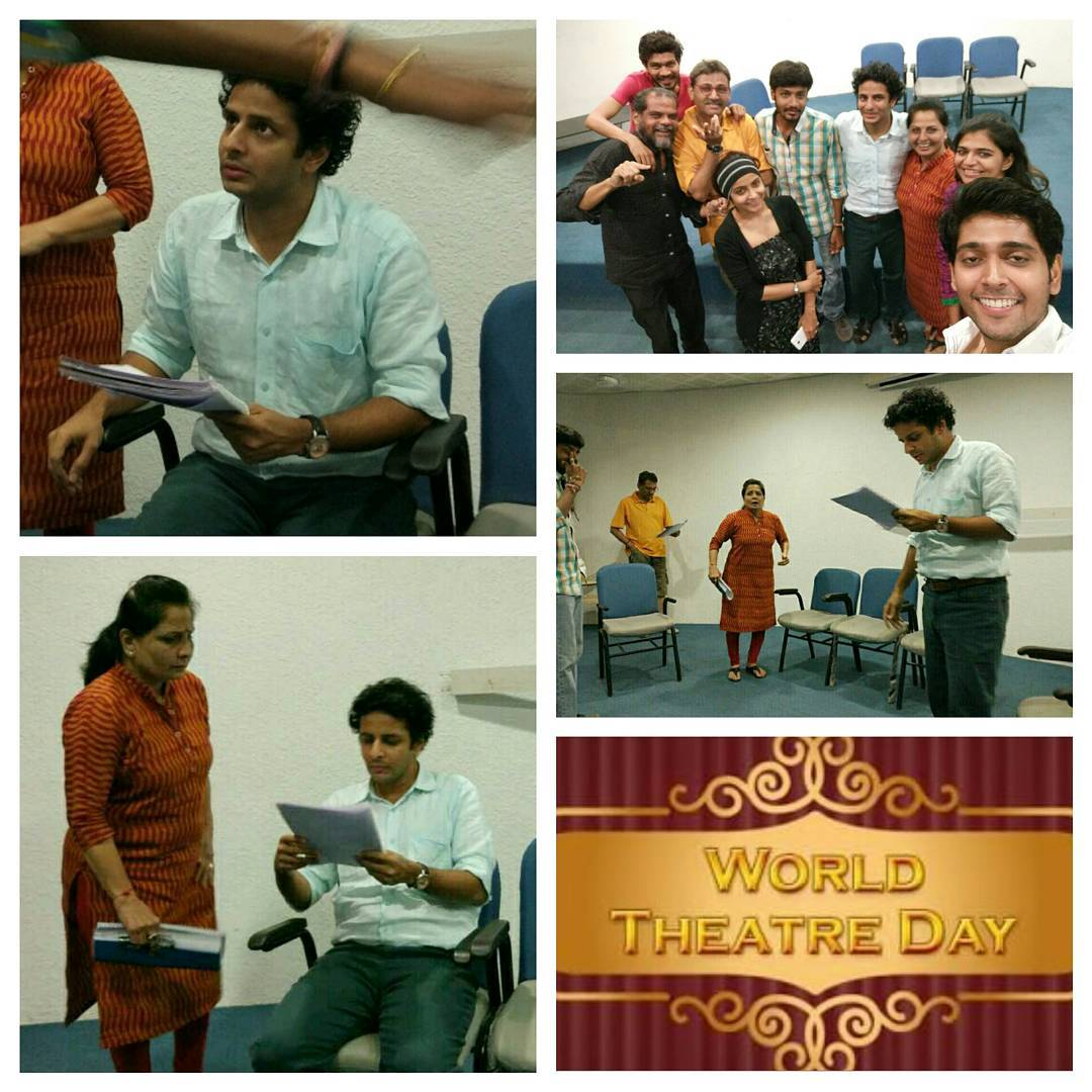 Rehearsing for a play.. after ages.. on World Theatre Day! 🎭 Pure joy! 😇 With a talented cast of stage veterans! Coming soon, stay tuned 😉  #worldtheatreday #theatre #stage #play #show #rehearsal #actor #comedy #script #reading #showbiz #entertainment #gujarat #gujarati #actors #joy #ahmedabad #gujju #drama #cast #blessed #actorslife #fun #comingsoon #theater #dialogue #thespian #instapic #happiness #usf