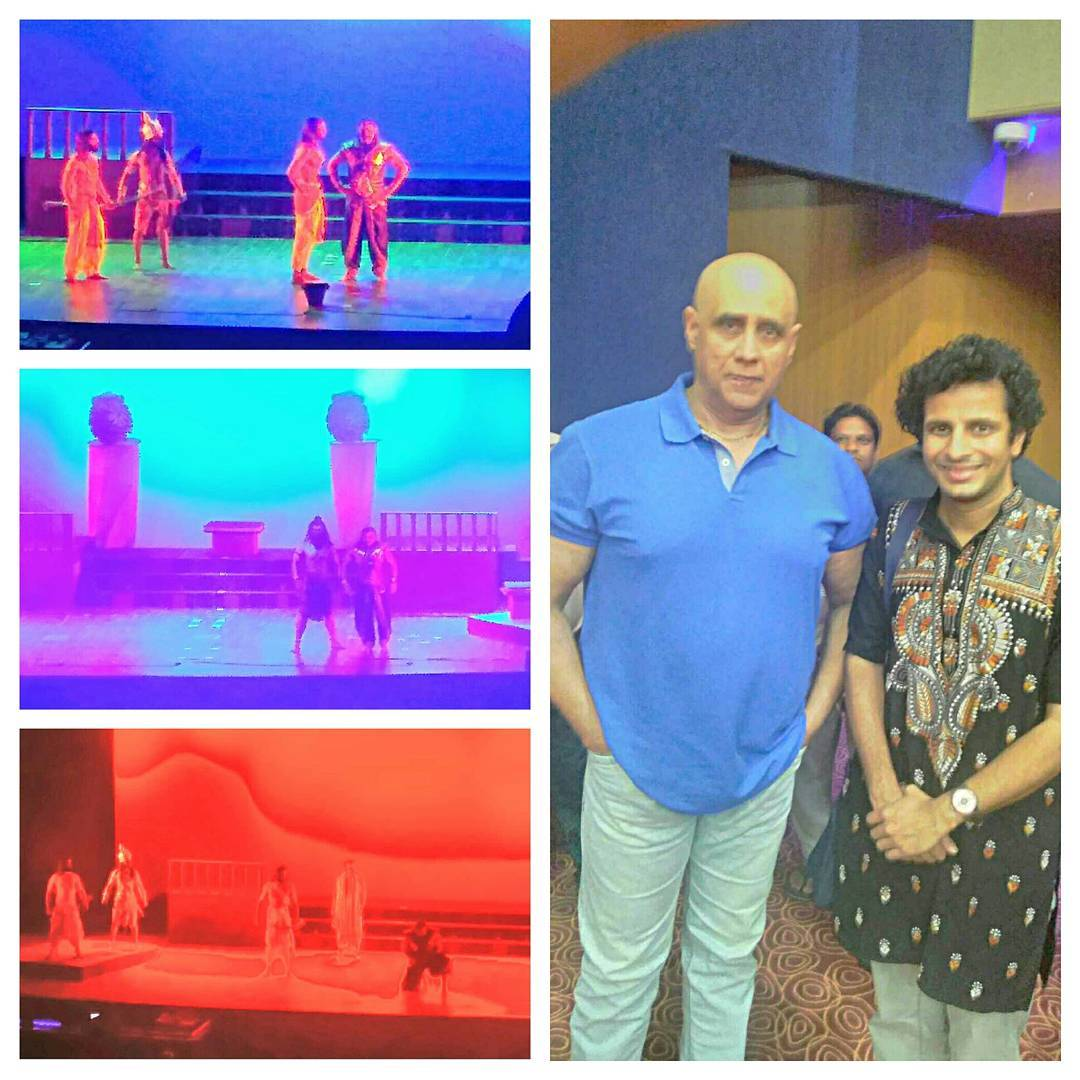 Grew up watching him as the ultimate DURYODHAN in B.R.Chopra's classic Mahabharat... watching the legendary PUNEET ISSAR now essay the role of Raavan was a theatrical delight! 😍 What voice.. what poise.. what presence! #FanMoment And what a Ramayana from Raavan's perspective! 🎭  #raavan #ramayana #theatre #play #puneetissar #ahmedabad #gujarat #hindi #stage #show #myth #mythology #classic #rama #ramayan #ravana #legend #voice #epic #celebrity #fan #actor #thespian #theater #hinduism #mahabharat #duryodhan #mahabharata #duryodhana