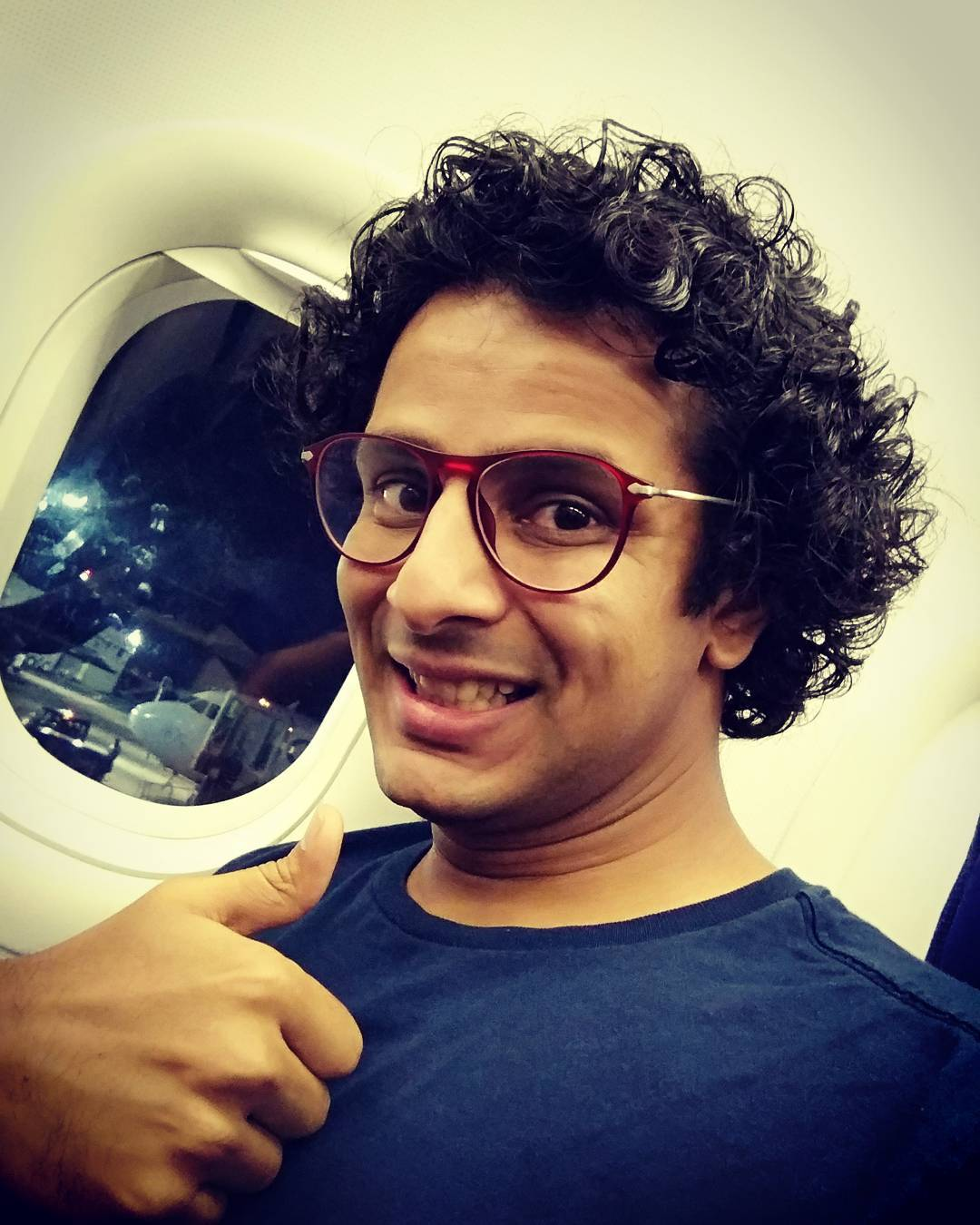 GOA CALLING! After a fantastic comedy show in Chennai for 850+ members of Gujarati Youth Association, now heading to Goa to wrap a film shoot! 🤓  #goa #flight #shoot #film #goacalling #beach #actor #morning #chennai #selfie #instapic #calangute #actorslife #sunset #bagabeach #goadiaries #tourism #goanlife #selfietime #traveler #lovegoa #goamemories #lovemyjob #flying #view #photooftheday #goatrip #watersports #bananaride #party