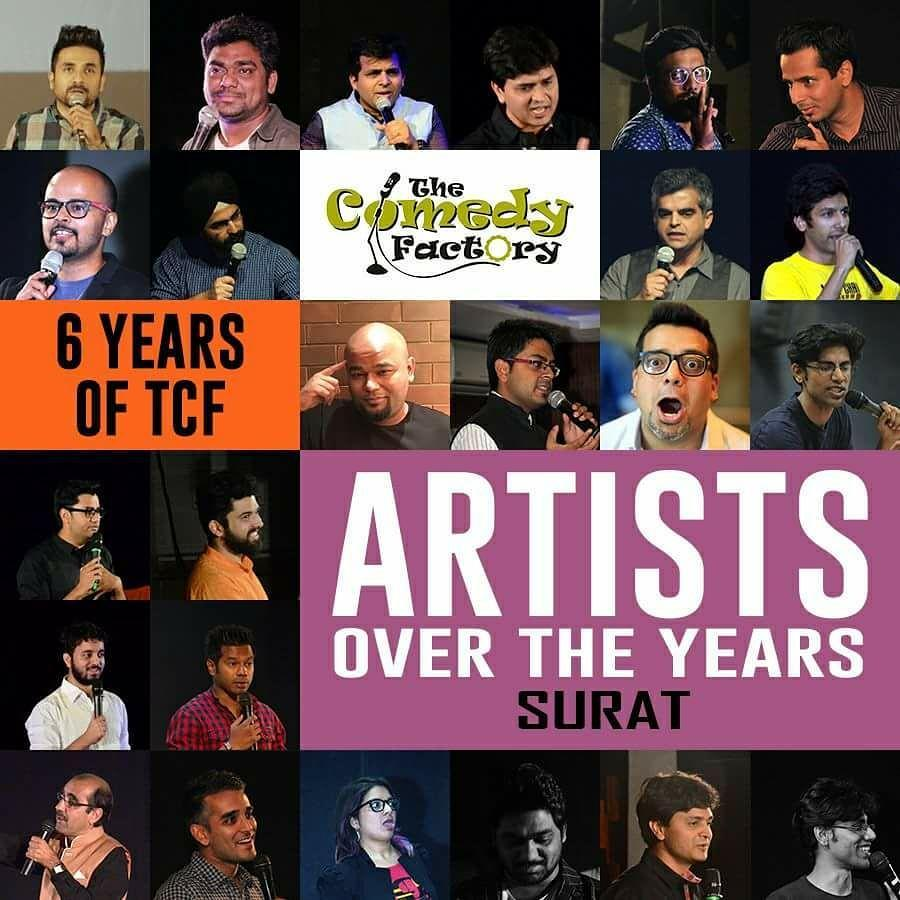 SURAT, an audience that's ever crazy, ecstatic and fun like nowhere else! 😇 HAPPY 6th BIRTHDAY to The Comedy Factory!  #surat #surti #tcf #thecomedyfactory #happy #birthday #wishes #celebration #ojasrawal #virdas #amittandon #sorabhpant #atulkhatri #danielfernandez #aditimittal #standupcomedy #comedian #comic #stage #show #gujarat #gujarati #gujju #audience #people #dumas #fun #memories