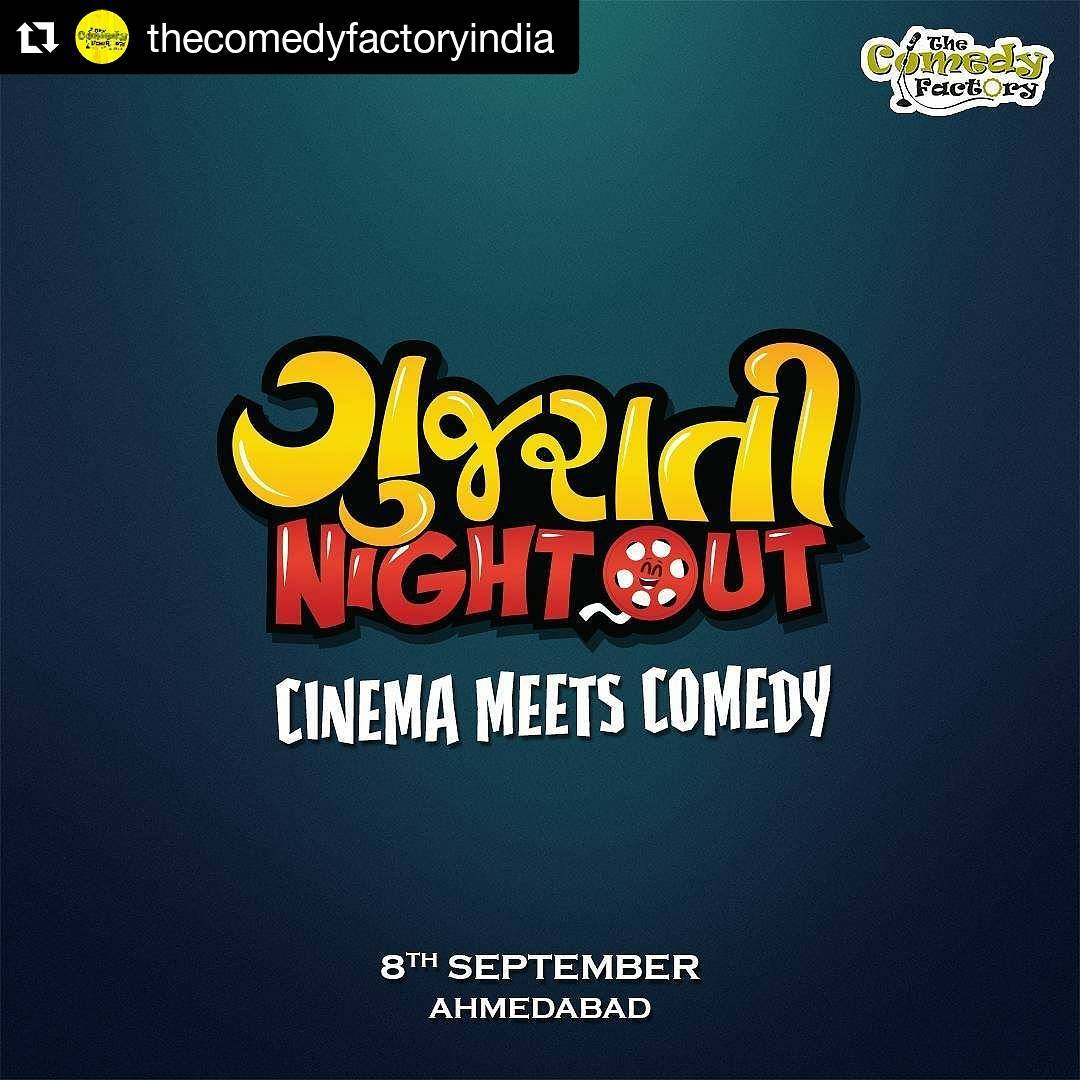 Ojas Rawal,  Repost, thecomedyfactory, ahmedabad, show, gujarati, gujarat, gujju, stage, entertainment, showbiz, cinema, film, movie, comedy, performance, standup, standupcomedy, roast, improv, improvcomedy, comedyroast, tcf, night, out, nightout, amdavad, amdavadi, poster, instapost, instapic