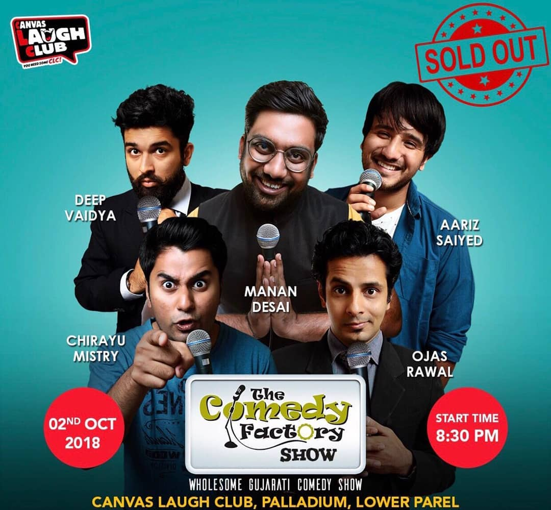 And it's a Full House!! 😎 Sold Out show in the hometown at the beloved Canvas Laugh Factory! Mumbai, get ready to laugh your lungs out! 🤘 Performing tonight with Manan Desai, Aariz Saiyed, Chirayu Mistry and Deep Vaidya of The Comedy Factory! 🎉 #Mumbai #CanvasLaughClub #comedy #show #standup #improv #musical #fun #ojasrawal #comedian #soldoutshow #funny #lol #ojas #gujarati #gujju #tonight #housefull #fullhouse #stage #event #entertainment #showbiz #boxoffice #palladiummall #lowerparel #laugh #standupcomedian #standupcomedy #soldout