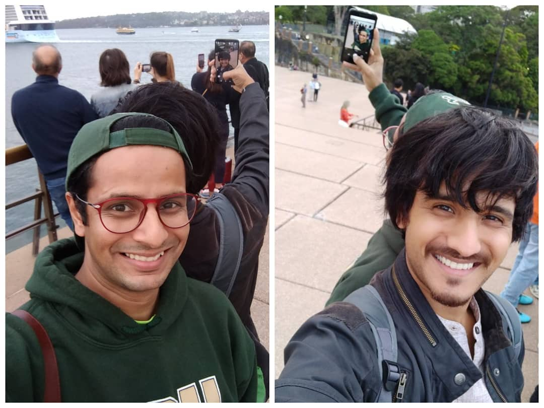 Reverse selfie-ception with Aariz Saiyed 🤓 at Sydney Opera House during The Comedy Factory's show tour in Australia 🇳🇿 . @aarizsaiyed @thecomedyfactoryindia #selfie #reverse #selfieception #OjasRawal #AarizSaiyed #friends #happy #smiles #australia #sydney #tbt #throwbackthursday #backtoback #buddies #friendshipgoals #iloveselfies #inception #comedians #comiclife #comedy #gujarati #gujju #actors #twoinone #2in1 #selfies #throwback #thursday #smile #memory