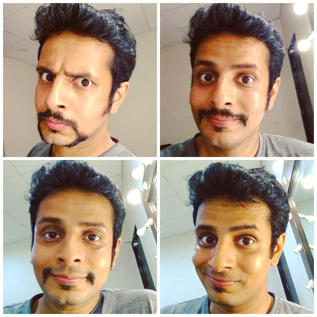 Stages of (mu)Stache✂️ From last year, today, in the green room of Pandit Deendayal Auditorium backstage. 🔹 #moustache #mustache #stache #moustaches #shave #cleanshave #facialhair #beard #frenchbeard #style #face #menshair #scruff #bearded #stlyes #faces #mustaches #handlebarmustache #mustacheman #beardandmoustache #beards #OjasRawal #ojas #looks #funny #me #expressions #makeuproom #greenroom #backstage