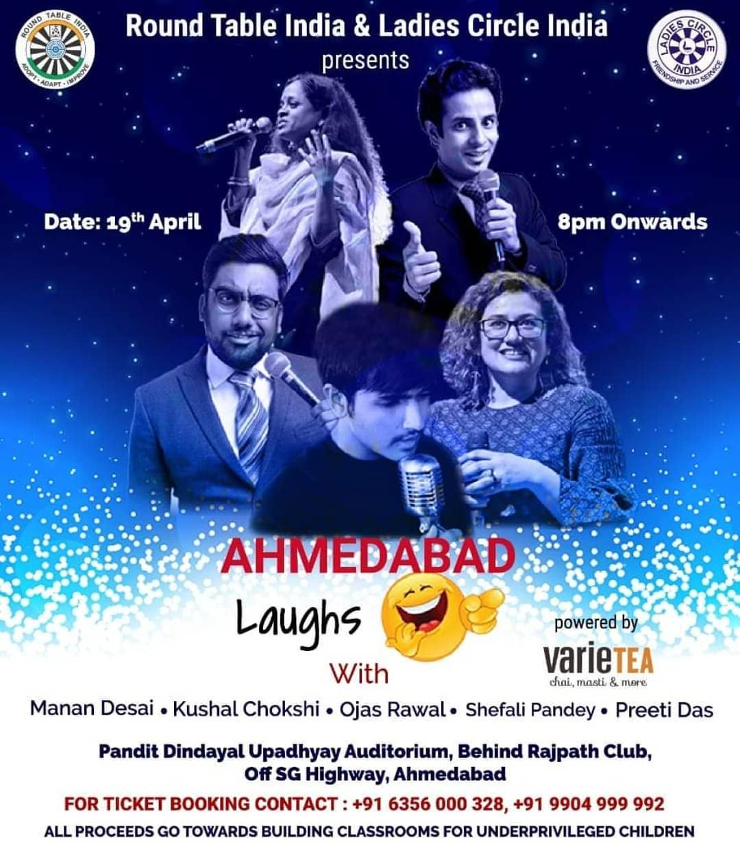 Ahmedabad tonight! 😎 See you @ 8pm @ Pandit Dindayal Upadhyay Auditorium behind Rajpath Club! Book your tickets ASAP! All proceeds go towards building classrooms for underprivileged children 🏫 . Performing with @thecomedyfactoryindia @mahilamanch @instafunny_manan @iampreetidas @shefalipandey and @kushalchokshiofficial . #Ahmedabad #gujarat #show #comedy #tonight #bethere #charity #india #gujju #gujarati #OjasRawal #ojas #comedian #actor #entertainment #showbiz #onstage #live #amdavad #event #stageshow #comedians #standup #standupcomedians #standupcomedy #funny #letsdothis #seeyoutonight #dontmissthis #yay