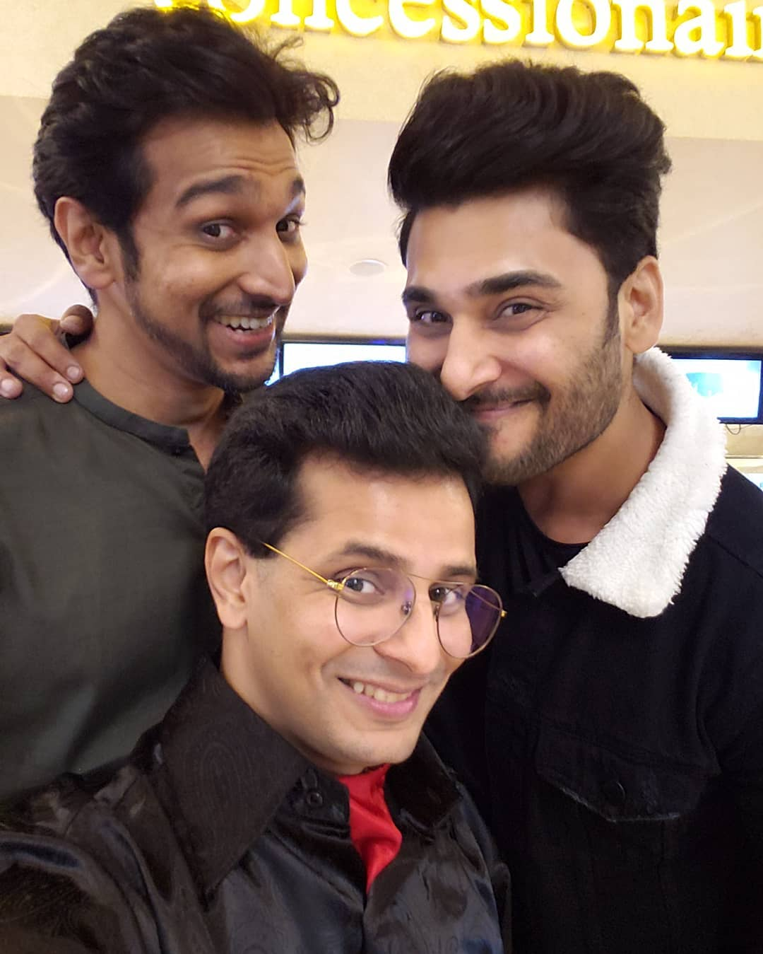 Most beloved selfie ever 🥰 Just can't get over this one! Reuniting with my Thor and Loki aka @pratikgandhiofficial and @bharatchawda20 long after