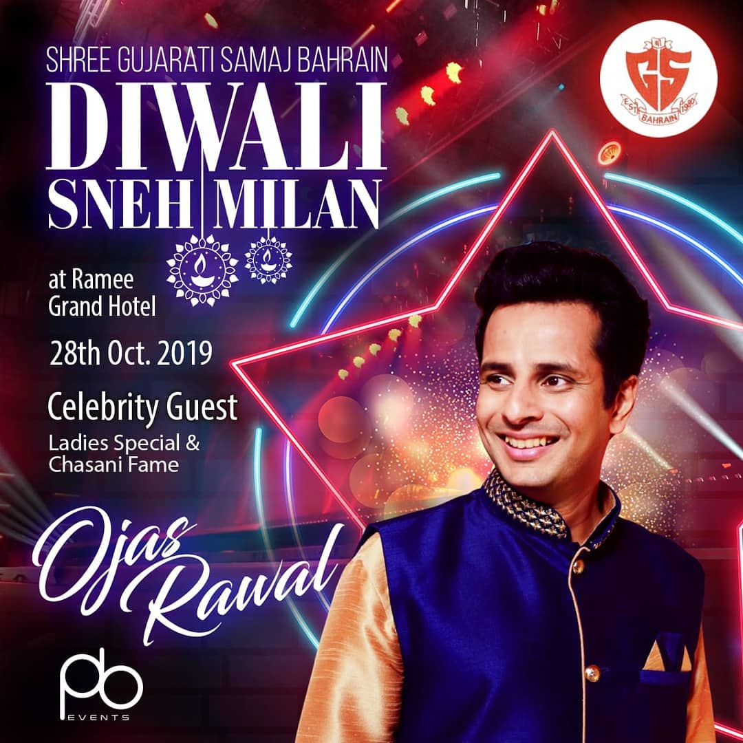 Happy New Year's happy beginning! 🥰 Celebrating Diwali and Nutanvarsh with Shree Gujarati Samaj Of Bahrain 🇧🇭 #TravelLife Host @sgsbahrain & Artist managed by Point Black events @pointblackevents . #CelebrityGuest #Bahrain #OjasRawal #actor #diwali #newyear #2019 #visit #event #pointblackevents #sgsbahrain #ojas #gulf #middleeast #events #eventplanners #india #mumbai #gujarati #eventing #event #eventmanager #artistmanager #artistmanagement #talentmanagement #travel #uae #dubain #happydiwali #happynewyear