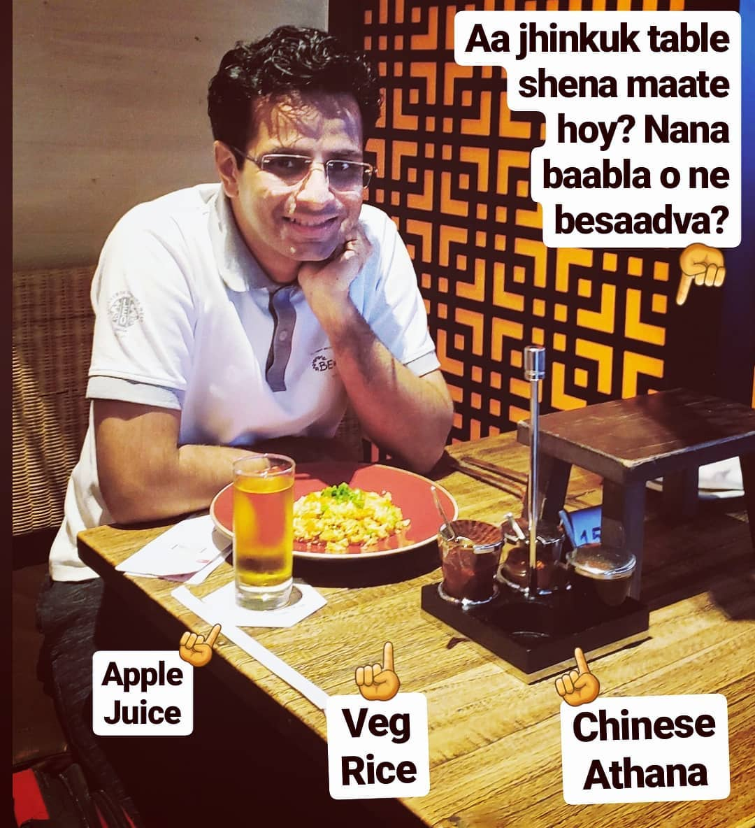 Airport layover lunch 🥣🍹with some clarifications & some questions 😄 . #dubai #airport #lunch #food #rice #applejuice #asian #meal #foodie #lunchtime #asianfood #food #juice #ricebowl #foodphotography #lunchideas #funny #OjasRawal #ojas #actor #airportlife #airportdiaries #dubaiairport #instafood #instafoodie #smile #foodfun #funfood #foodstagram #healthyfood
