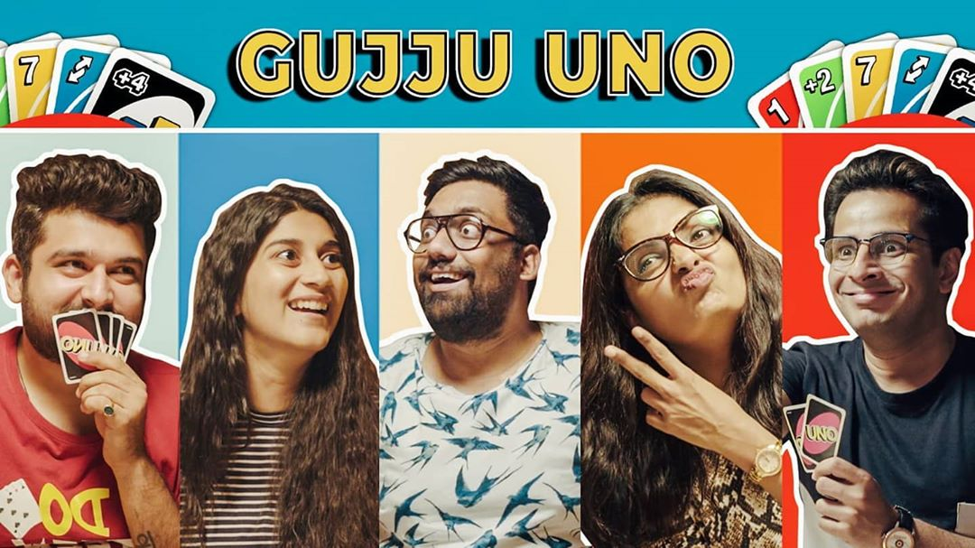 HILARIOUS new video by @thecomedyfactory 🤪 It's my new favourite by this superhuman team of talented cast and the entire crew! Loved acting in it and co-directing it 🤩 >>> VIDEO LINK IN BIO <<< . #thecomedyfactory #newvideo #gujarati #gujju #uno #cards #cardgames #gamenight #friends #funnyvideo #tcf #funny #comedy #hilarious #ahmedabad #vadodara #surat #rajkot #mumbai #bhavnagar #jamnagar #ojasrawal #ojas #actor #comedian #deekshajoshi #manandesai #deepvaidya #vidyadesai #actors