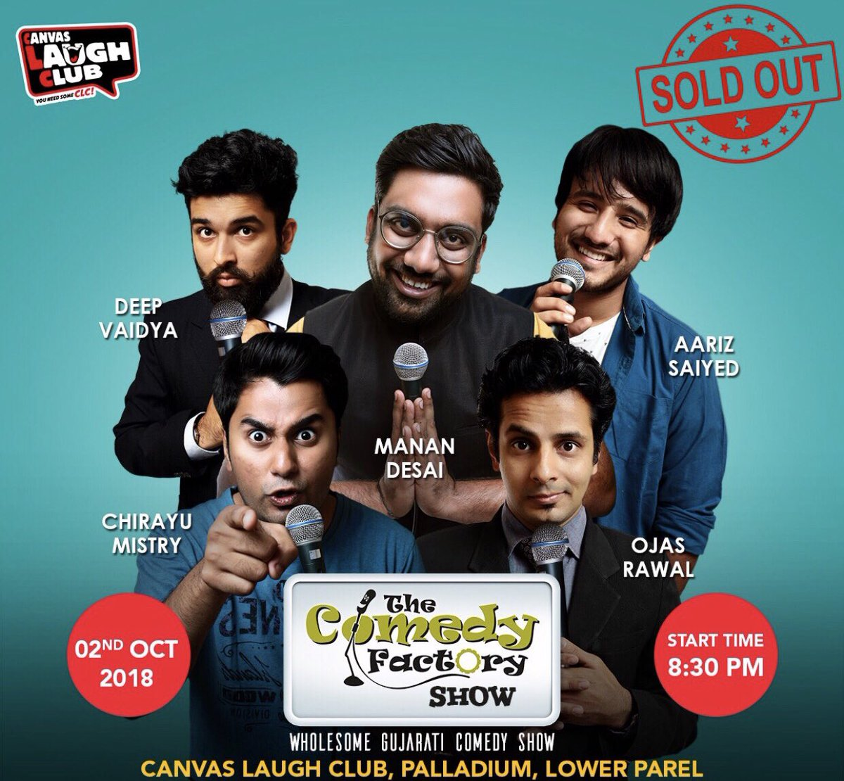 RT @ComedyFactoryIn: SOLD OUT...Thank you Mumbai People for a sold out show😁❤️ . . #mumbai #canvaslaughclub #soldout https://t.co/n07rkOUtsi