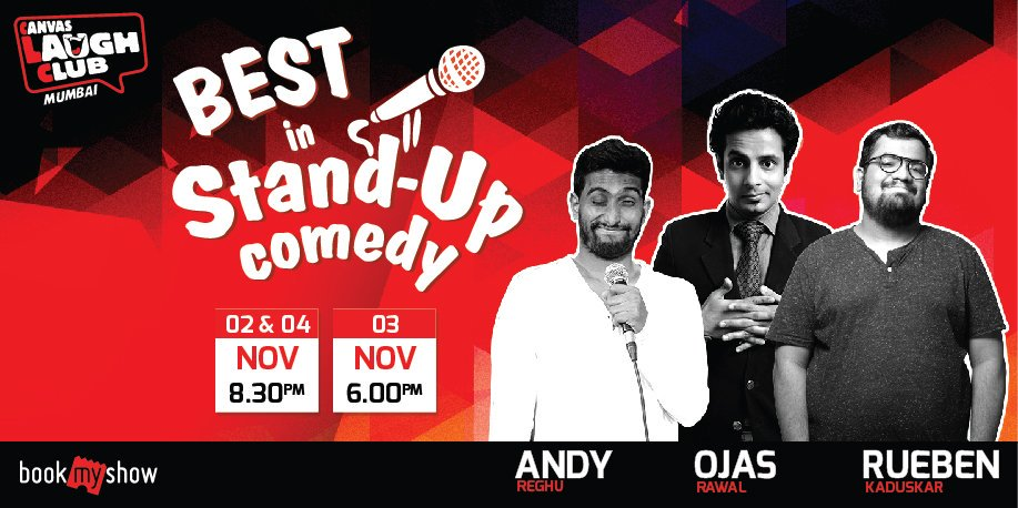 Come #Mumbai, enjoy a hilarious #weekend 😎 Performing at the mecca i.e. @canvaslaughclub