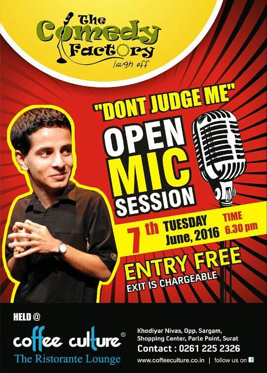 Hosting Open Mic at @coffeeculturein! Bringin out new comic talents in #Surat 👅😎 with @ComedyFactoryIn #comedy #TCF https://t.co/90mQkG5MB7