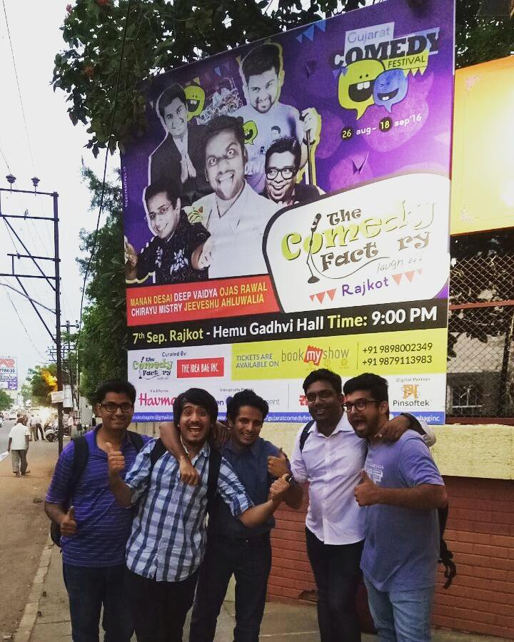 Performin @ birthplace tonite 😍 @ComedyFactoryIn 's 1st show in #RAJKOT @ 9 at Hemu Gadhvi Hall 🎭 #nostalgia #comedy https://t.co/XBXTLbRbuj