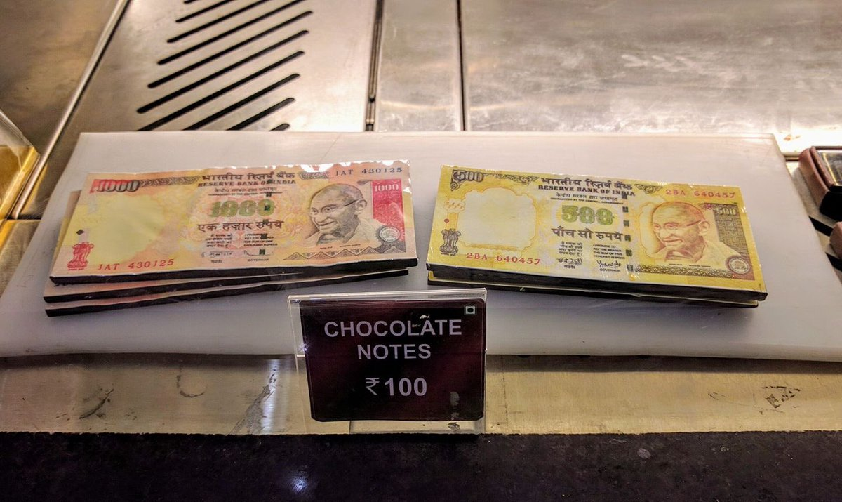 RT @journojuno: Okay, edible chocolate notes being sold at Acropolis Mall in Kolkata. Now I've seen it all. https://t.co/JgytNFsBiB