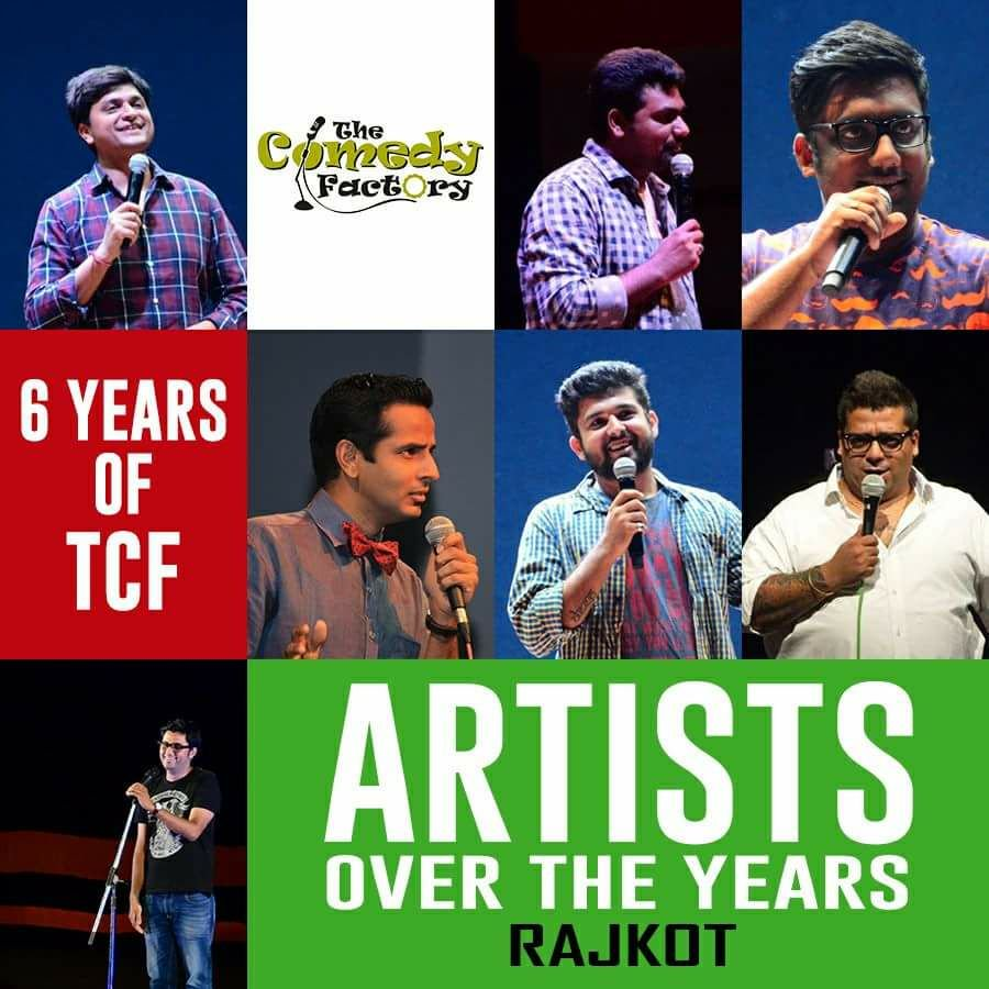 Honour to have performed at my #birthplace #RAJKOT 😇 HAPPY 6th BIRTHDAY to The Comedy Factory @ComedyFactoryIn  #Gujarat #HappyBirthday #TCF https://t.co/SJ2mLyjyUi