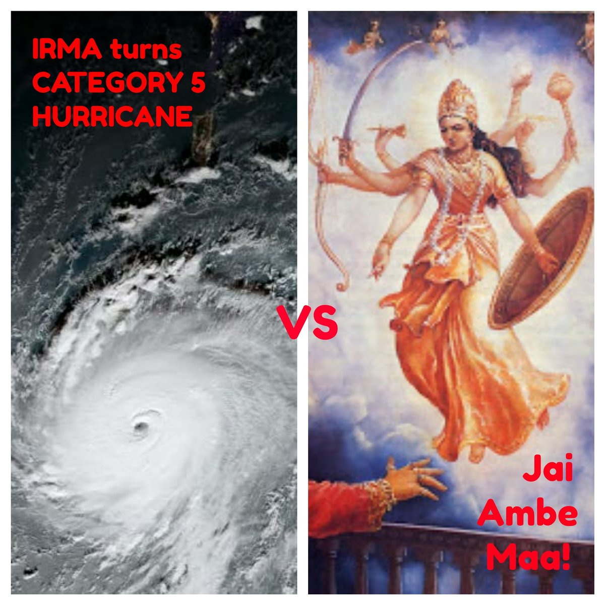 #Navratri2017 for Gujjus in #Florida be like: IRMA vs Ambe Maa!  #IrmaHurricane #Irma2017 #Hurricane #IrmaHurricane2017 #Gujarati #Irma #usa https://t.co/JG9VxLPW0x