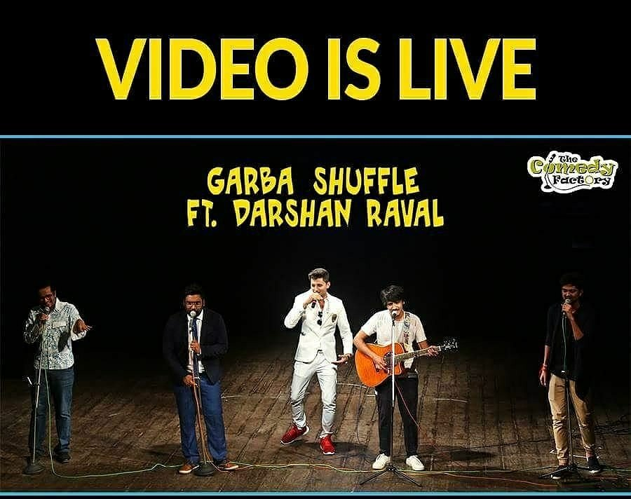 The #Garba Shuffle by The Comedy Factory featuring Darshan Raval is LIVE NOW! 🤘😎 https://t.co/woCBSYUAWx  #Navratri #DarshanRaval #NewVideo https://t.co/kbXsf56hRz