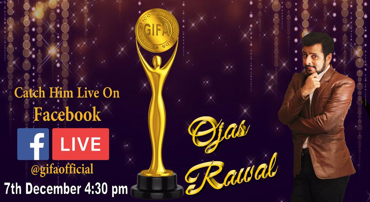 Catch Me #Live on #Facebook ! #Today at 4:30pm talking about #GIFA2017 (Gujarati Iconic Film Awards) alongwith @ArvindVegda & Hetal Thakkar🤘 See you all #online this afternoon! 😊  #FBLive #BiggerThanEver #Fb #GIFA #gujarat #films #gujarati #movies #cinema #mumbai #excited #fun https://t.co/epOGO0QS7q