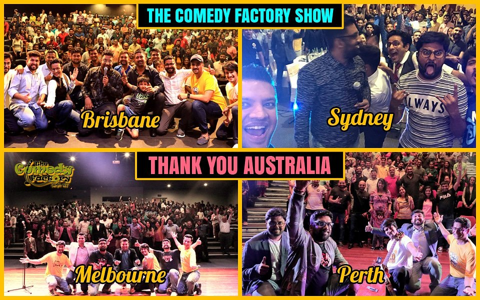 Thanks-a-Million, #AUSTRALIA 🇦🇺 for the Fantastic Show Tour in #Brisbane, #Sydney, #Melbourne & #Perth 😍 The Comedy Factory will be back to entertain ya'll soon, mate !!!  #comedy #standup #improv #fun #amazing #Gujarat #Gujarati https://t.co/qs4xKukfbk
